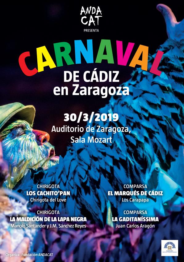 Calendario Coac 2019.Andacat Presenta Carnaval De Cadiz En El Auditorio De Zaragoza