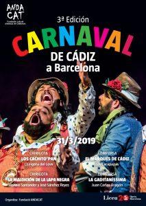 ANDACAT PRESENTA: III Carnaval de Cádiz en el Liceu de Barcelona. @ Gran Teatre del Liceu de Barcelona