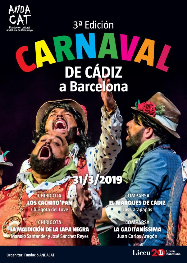 III Carnaval de Cádiz en el Liceu de Barcelona - Cartel