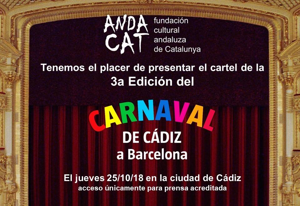 Presentación Cartel 3er Carnaval de Cádiz en el Liceu