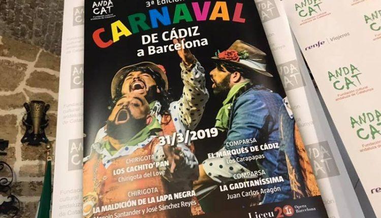Presentación 3ª Edición del Carnaval de Cádiz en Barcelona