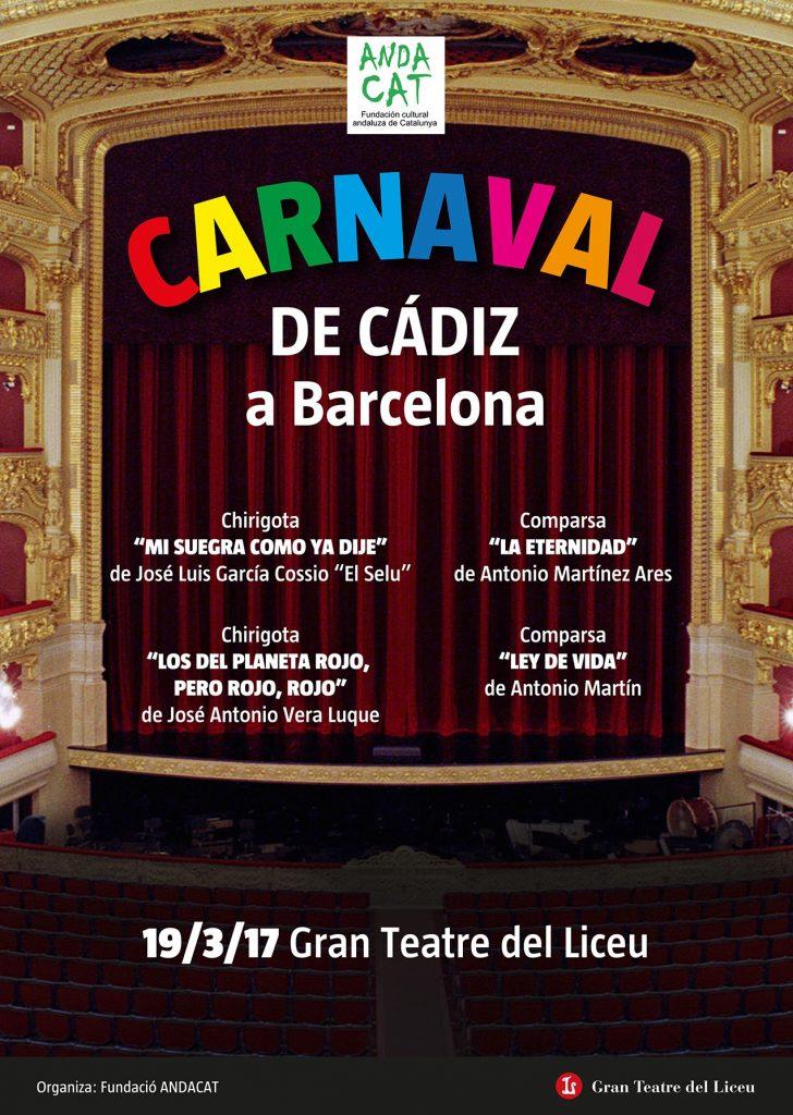 Cartel Primera Edición Carnaval de Cádiz en Barcelona
