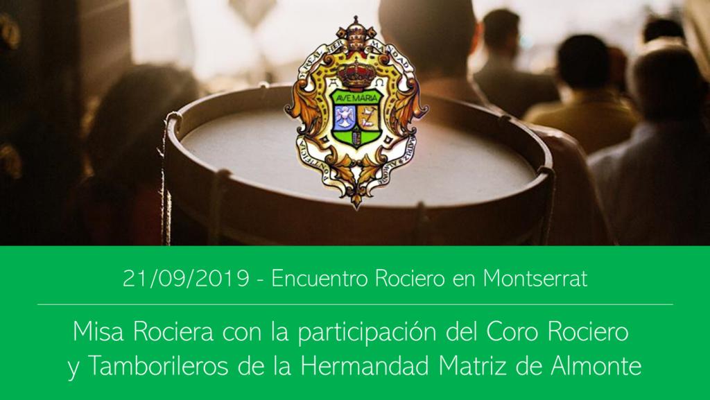 Coro Rociero y Tamborileros de Almonte en Montserrat