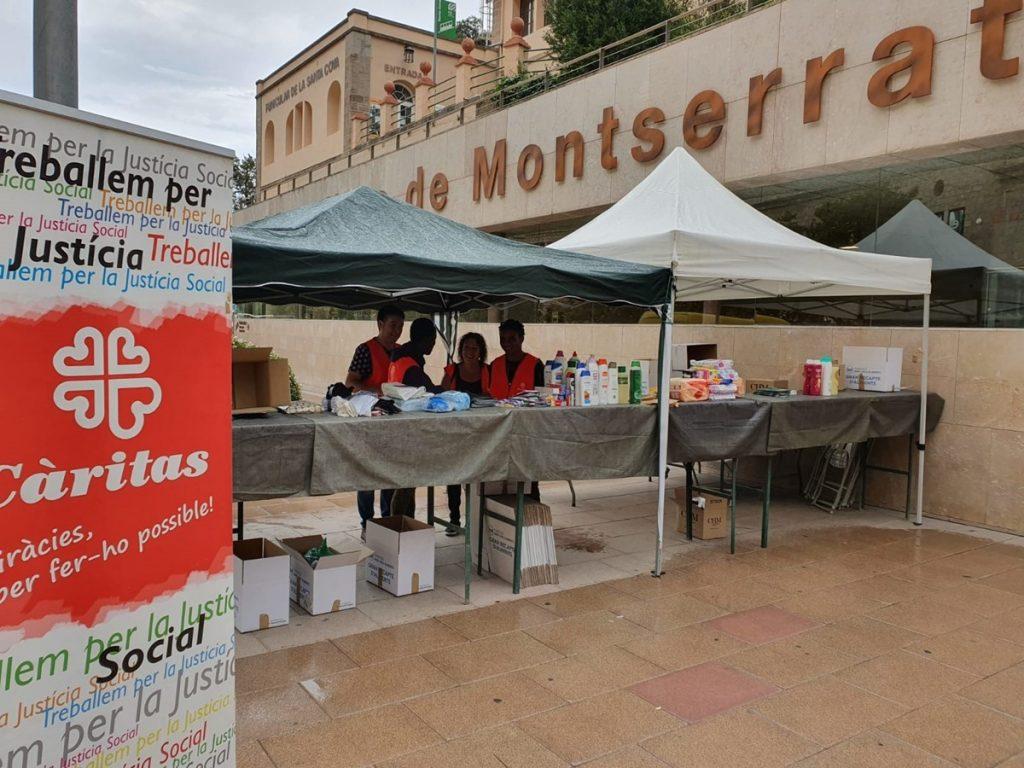 Acción con Cáritas en Montserrat