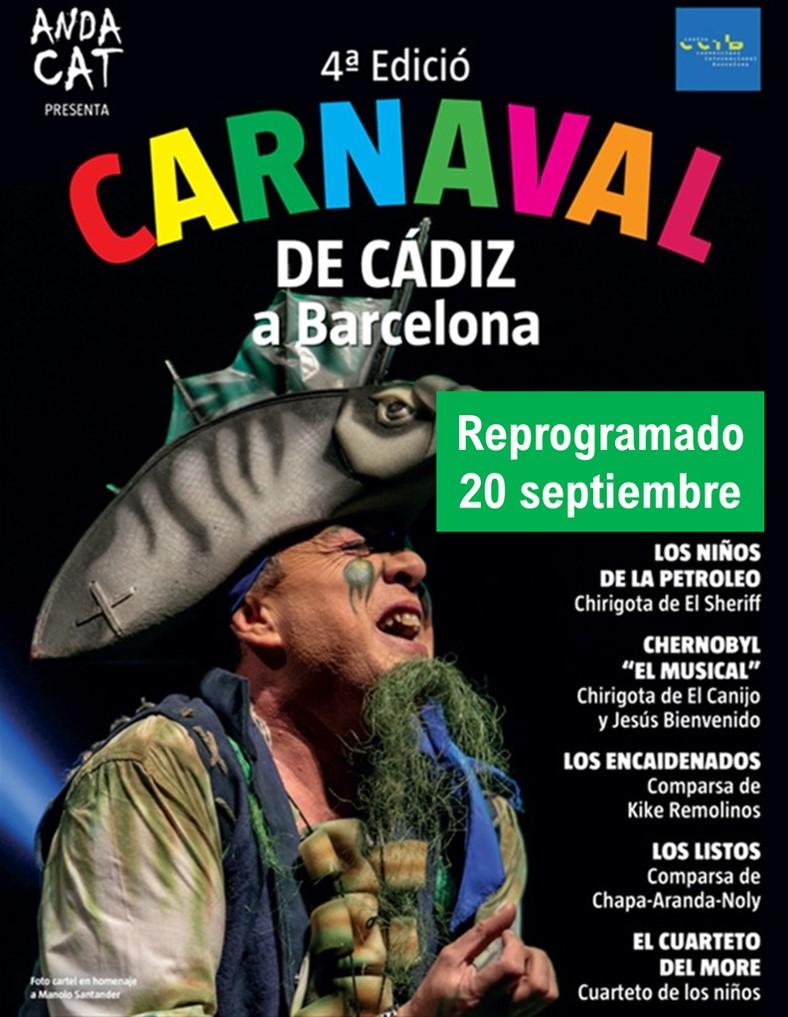 Carnaval Cádiz Barcelona Reprogramación