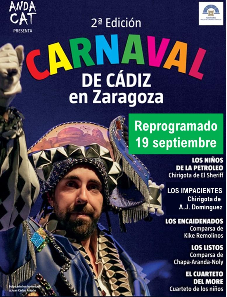Reprogramación Carnaval de Cádiz en Zaragoza